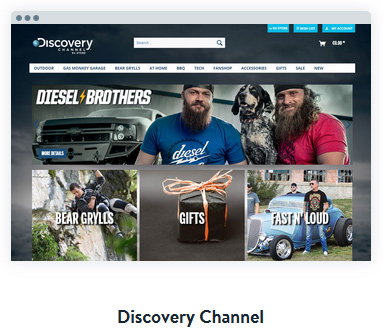 Discovery Channel built on ShopWare